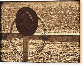 After The Drive Wood Print by American West Legend By Olivier Le Queinec