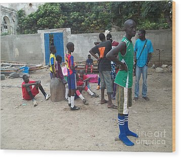 After The Game - Goree Boys Wood Print by Fania Simon