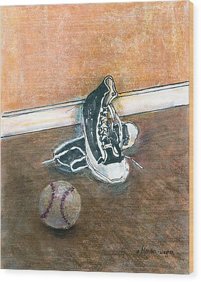 After The Game Wood Print by Arline Wagner