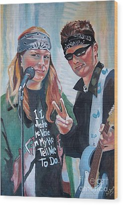 After The Gig Wood Print by Gail Zavala
