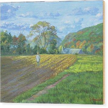 After The Harvest Wood Print by Dominique Amendola