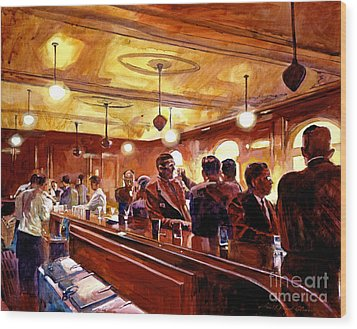 After The Market Closes Wood Print by David Lloyd Glover