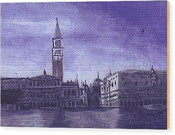 After The Pier At San Marco Wood Print by Hyper - Canaletto