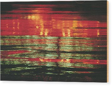 After The Rain Abstract 1 Wood Print by Tony Cordoza