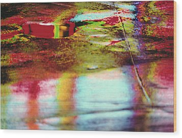 After The Rain Abstract 2 Wood Print by Tony Cordoza