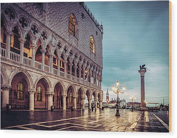 Wood Print featuring the photograph After The Rain At St. Mark's by Andrew Soundarajan