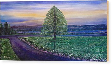 After The Rain Comes The Joy Wood Print by Kimberlee Baxter