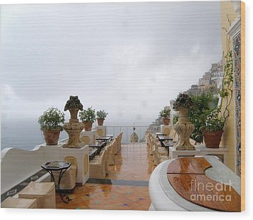 After The Rain. Positano Wood Print