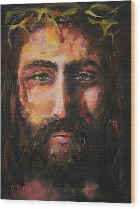 After The Scourging Wood Print by Carole Foret