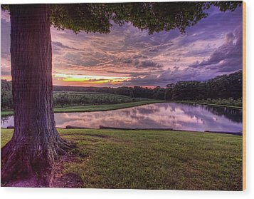 After The Storm At Mapleside Farms Wood Print