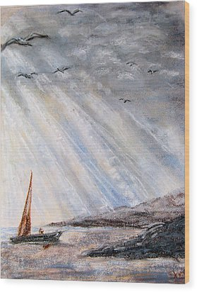 After The Storm Wood Print by Sherlyn Andersen