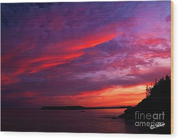 Wood Print featuring the photograph After The Storm Sunset by Alana Ranney