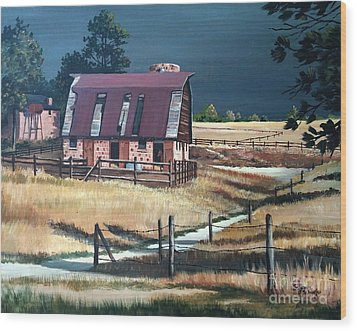 After The Storm Wood Print by Suzanne Schaefer