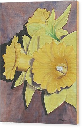 After The Tulips Wood Print by Robert Thomaston