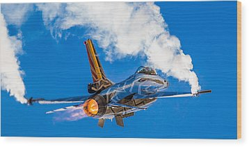 Afterburn Wood Print by Ian Schofield