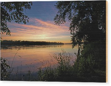 Wood Print featuring the photograph Afterglow by Cricket Hackmann
