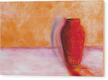 Wood Print featuring the painting Afterglow by Marlene Book