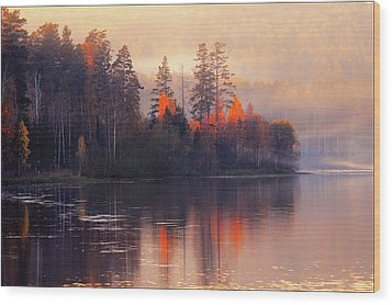 Wood Print featuring the photograph Afterglow by Vladimir Kholostykh