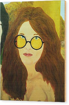 Afterlife Concerto Janis Joplin Wood Print by Rand Swift