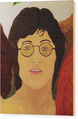 Afterlife Concerto John Lennon Wood Print by Rand Swift