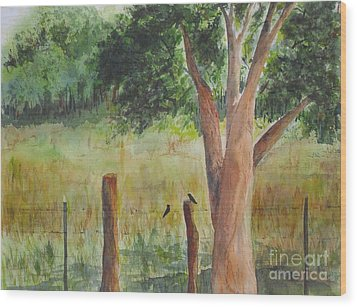 Wood Print featuring the painting Afternoon Chat by Vicki  Housel