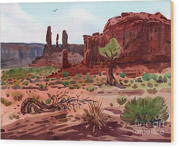 Afternoon In Monument Valley Wood Print