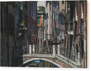 Wood Print featuring the photograph Afternoon In Venice by Alex Lapidus