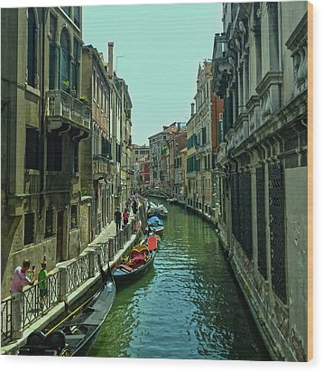 Wood Print featuring the photograph Afternoon In Venice by Anne Kotan