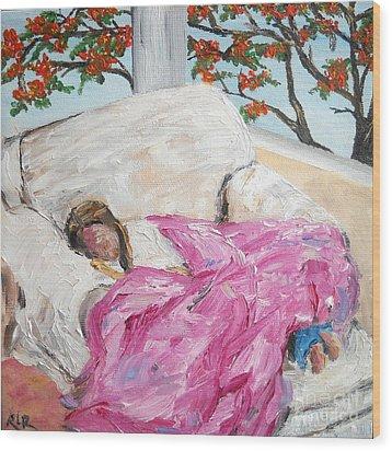 Afternoon Nap At Grandmas Wood Print by Reina Resto