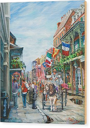 Afternoon On St. Ann Wood Print by Dianne Parks