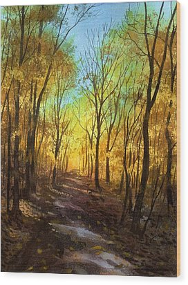 Afternoon Road Wood Print