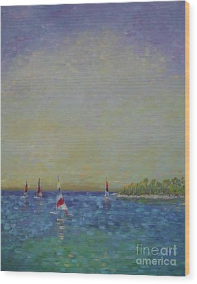 Afternoon Sailing Wood Print
