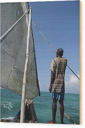 Afternoon Sailing In Africa Wood Print
