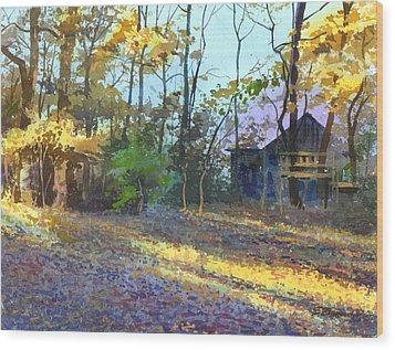 Afternoon Shadows Wood Print by Sergey Zhiboedov