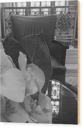 Afternoon Tea At The Waldorf Wood Print by Tara Miller