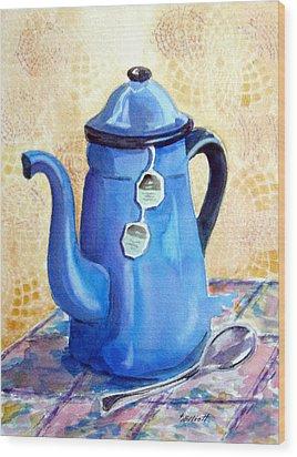 Afternoon Tea Wood Print by Marsha Elliott
