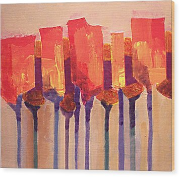 Afternoon Tulips Wood Print by Dalas  Klein