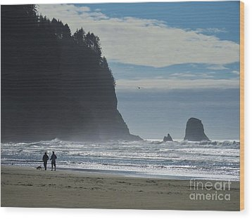 Cape Meares Wood Print by Michele Penner