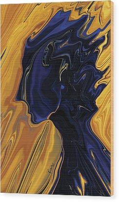 Wood Print featuring the digital art Against The Wind by Rabi Khan