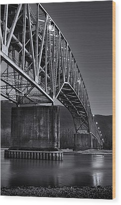Agassiz-rosedale Bridge Wood Print