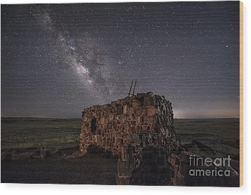 Wood Print featuring the photograph Agate House At Night by Melany Sarafis