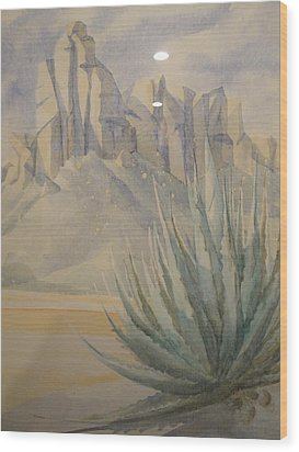 Agave Wood Print by Steven Holder