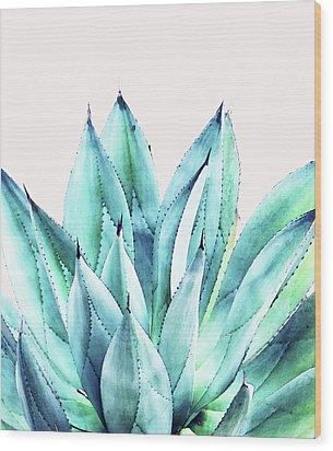 Agave Vibe Wood Print by Uma Gokhale