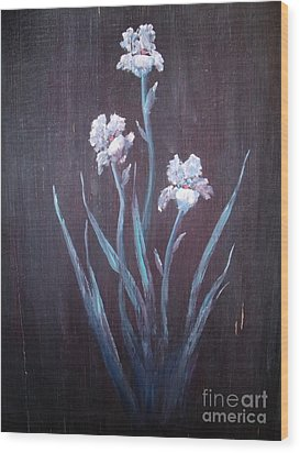 Aged Iris Wood Print by The Stone Age
