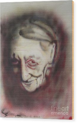 Aged Smile Wood Print by Ron Bissett