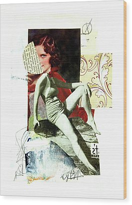 Wood Print featuring the mixed media Ageless by Elena Nosyreva