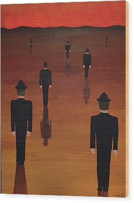 Wood Print featuring the painting Agents Orange by Thomas Blood