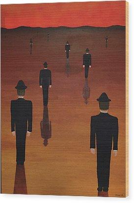 Agents Orange Wood Print by Thomas Blood