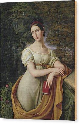 Agnes Rauch Wood Print by Wilhelm Schadow