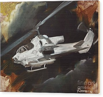Ah-1w Cobra Wood Print